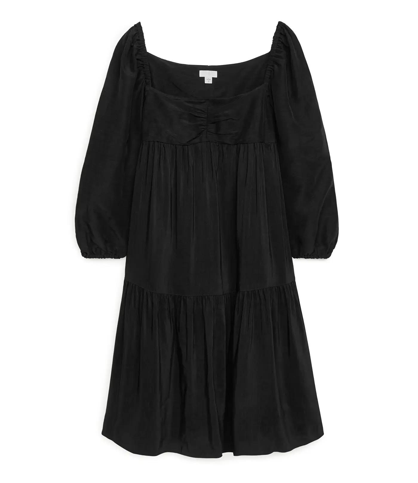 arket kjole i linmiks